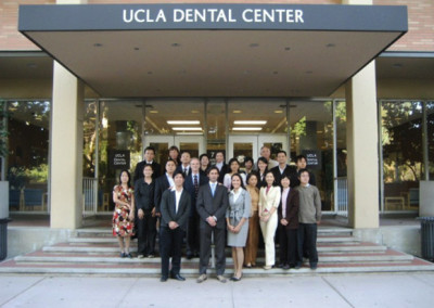 Asian dentists graduating at UCLA with Dr. Jovanovic